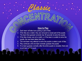 Concentration Review Game - Ten (10) Different Rebus Puzzles