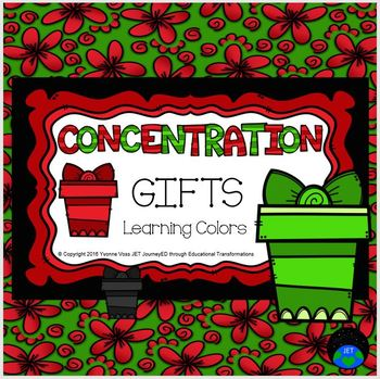Concentration Gifts Learning Colors
