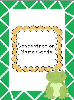 Concentration Math Fact Game Cards