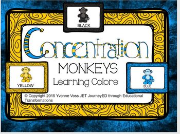 Concentration Monkeys Learning Colors