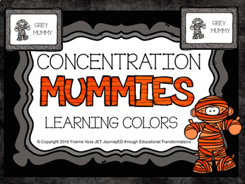 Concentration Mummies Learning Colors