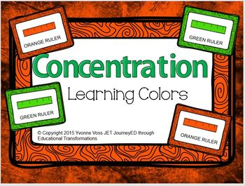 Concentration Rulers Learning Colors