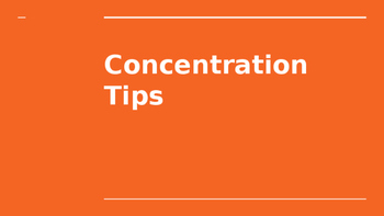 Concentration Tips PPT