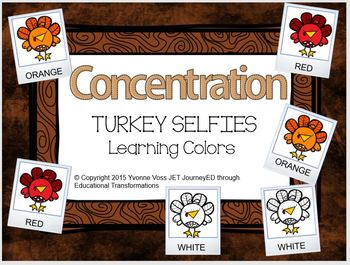 Concentration Turkey Learning Colors