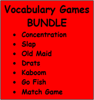 Vocabulary games in English Bundle
