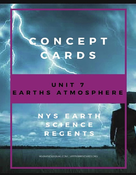 Concept Cards - Earths Atmosphere