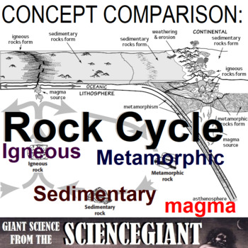 Concept Compare Frame: Rock Cycle (Igneous, Sedimentary, M