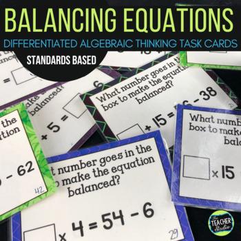 "Concept of ""Equals"" Algebra Thinking Task Cards: Grades 3-5"