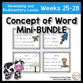 Concept of Word Intervention BUNDLE:  Week 25-28
