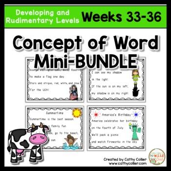 Concept of Word Intervention BUNDLE:  Week 33-36