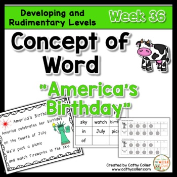 Concept of Word Intervention: Week 36