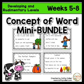 Concept of Word Intervention:  Weeks 5-8 BUNDLE