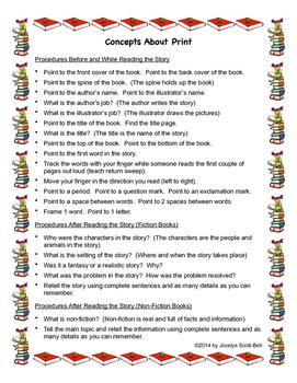 Concepts About Print: Parent Guide