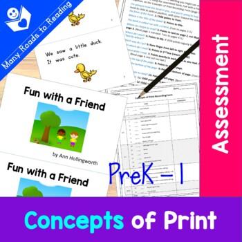 Concepts of Print Assessment: PreK - Grade 1