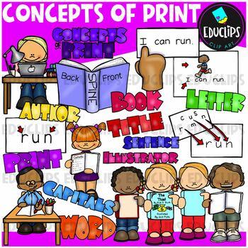 Concepts of Print Clip Art Bundle