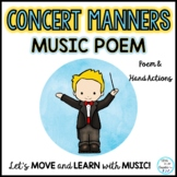 FREEBIE: Concert Manners Poem for Music-Drama-Events-Progr