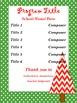 Christmas/Holiday - Concert/ Music Program Kit