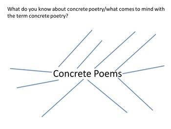 Concrete Poetry Lesson (Lesson 2 in a 10 Lesson Unit)