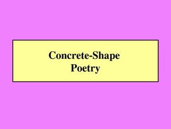Concrete Poetry Powerpoint