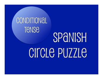 Spanish Conditional Tense Circle Puzzle