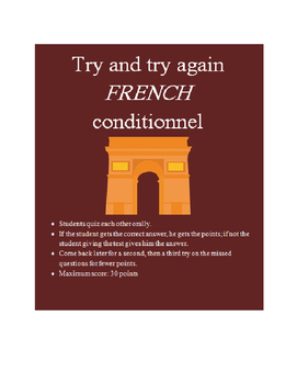 Conditionnel FRENCH  Try and Try Again