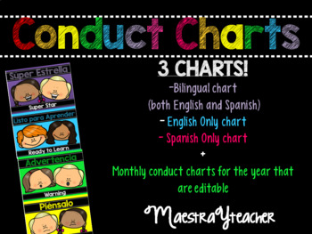 Spanish and English Conduct Chart! With Editable daily con