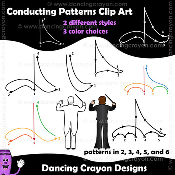 Conducting Patterns and Conductors Clip Art