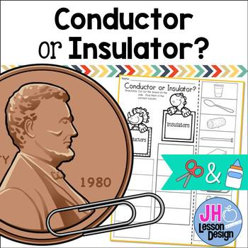 Electricity:Conductor and Insulator Cut and Paste Sorting