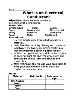 Conductor Lab Sheet