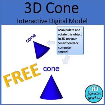 Cone - 3D Shape for Whiteboards and Smartboards