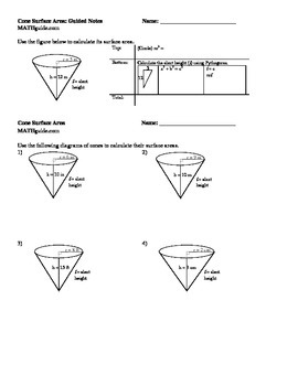 Cone Surface Area