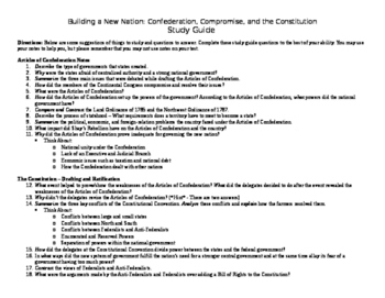 Confederation, Compromise, and the Constitution Study Guide