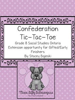 Confederation Tic-Tac-Toe for Gifted/GATE students