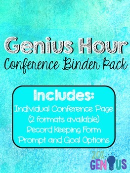 Conference Binder Pack for Genius Hour