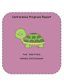 Conference Progress Report