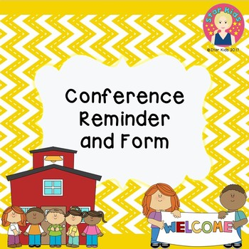 Conference Reminder and Form {PRINT AND GO}