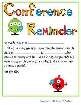 Conference Reminder for Guardians