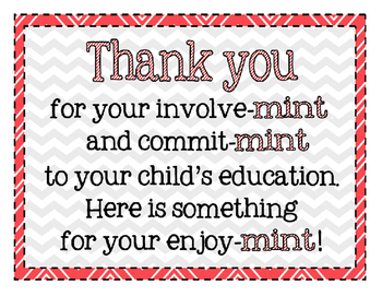 Conference Parent Thank You Mint