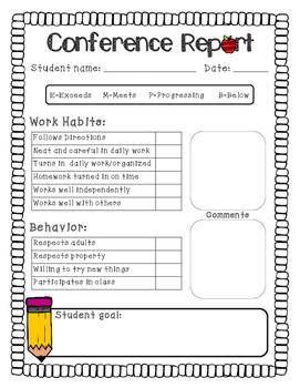 Conference Work Habits/Behavior Report