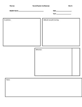 Conferene organization sheet