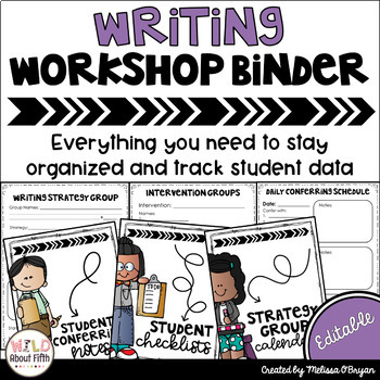 Data Tracking Workshop Organizer: Writing Teacher Binder (
