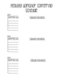 Conferring Schedule