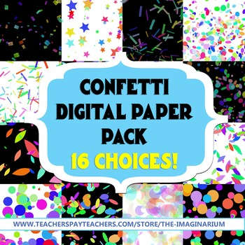 Confetti Digital Paper Pack (16 Choices)