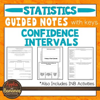 Confidence Intervals - Statistics INB Activities & Scaffol