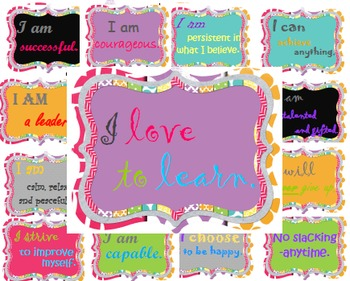 Confidence and Encouragement for the classroom