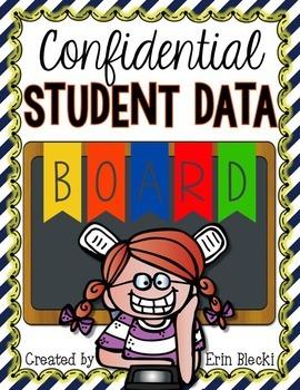 Confidental Student Data Board {Editable}