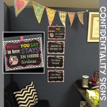 Confidentiality Signs / Posters for Counselor's Office