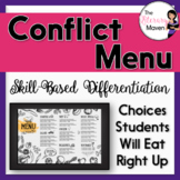 Conflict Menu of Activities Based on Bloom's, Differentiat