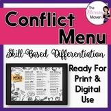 Conflict Menu of Activities Based on Bloom's, Differentiat