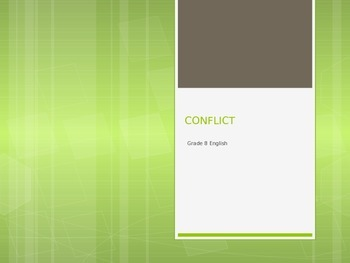 Conflict PPT Bundle - Literature Literary Elements (EDITABLE)